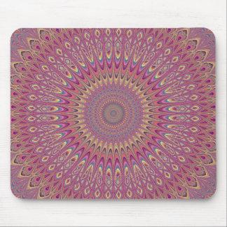 Hippie grid mandala mouse pad