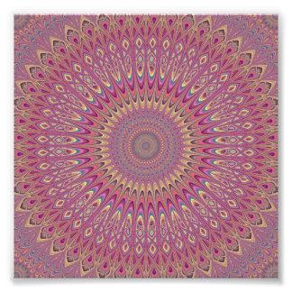 Hippie grid mandala photograph
