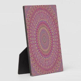 Hippie grid mandala plaque