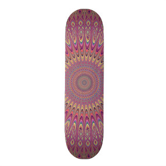Hippie grid mandala skateboard