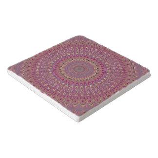 Hippie grid mandala trivet