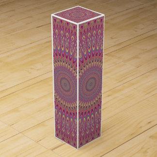 Hippie grid mandala wine box