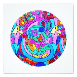hippie groovy love card