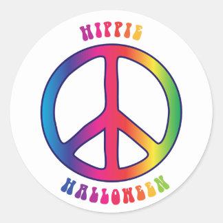 Hippie (Happy) Halloween Classic Round Sticker