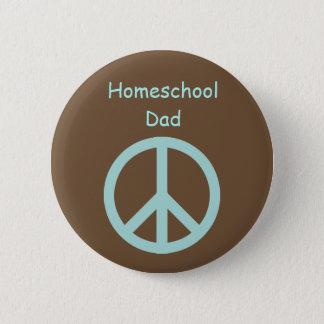 Hippie Homeschool Dad Peace Sign 2 Inch Round Button