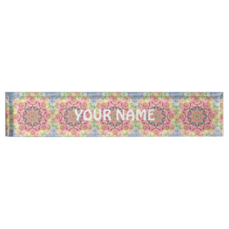 Hippie  Kaleidoscope Pattern Desk Nameplate