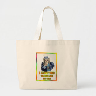 hippie large tote bag