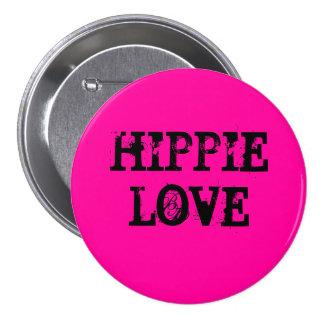 hippie love 3 inch round button