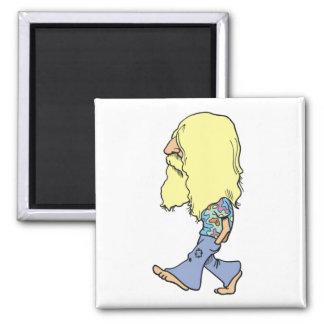 Hippie Refrigerator Magnet