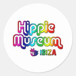 Hippie Museum Ibiza Round Stickers