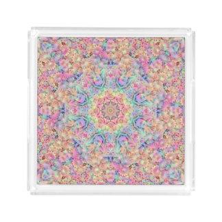 Hippie Pattern  Acrylic Trays, 2 shapes 4 sizes Acrylic Tray