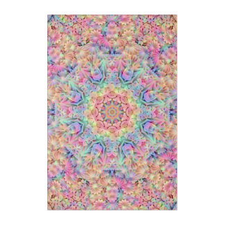 "Hippie Pattern Acrylic Wall Art, 24"" x 36"" Acrylic Wall Art"