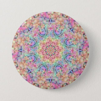 Hippie Pattern Buttons, square or round 3 Inch Round Button