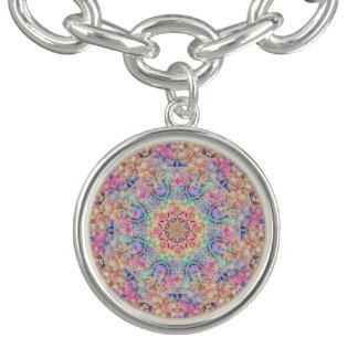 Hippie Pattern Charm Bracelets, round or square