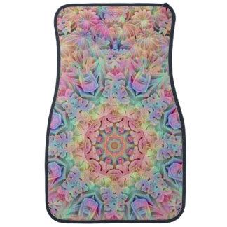 Hippie Pattern  Custom Car Floor Mats Front