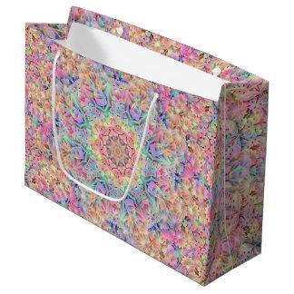 Hippie Pattern Custom Gift Bag - Large, Glossy