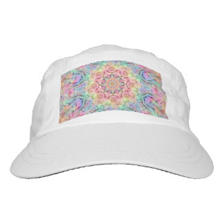 Hippie Pattern Custom Woven Performance Hat, White Hat