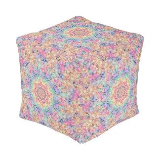 Hippie Pattern  Pouf Cube, 2 sizes
