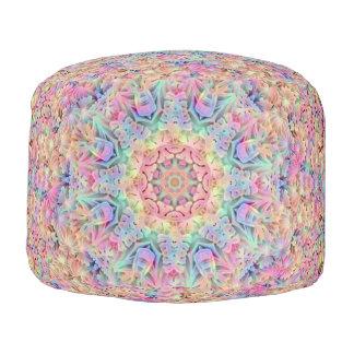 Hippie Pattern   Round Poufs