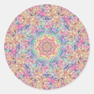 Hippie Pattern  Stickers, 7 shapes Round Sticker