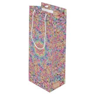 Hippie Pattern Vintage Kaleidoscope   Wine Bags