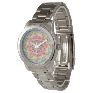 Hippie Pattern  Vintage Mens Watch