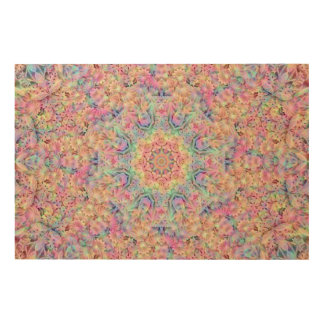 Hippie Pattern  Wood Wall Art Wood Print