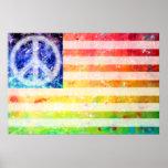 Hippie Peace Freak Flag Art