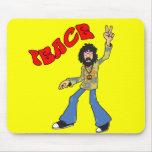Hippie Peace Mouse Pad