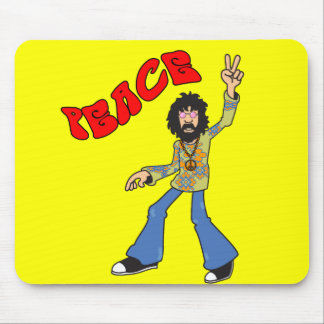 Hippie Peace Mouse Pad