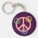 Hippie Peace Sign Key Chain