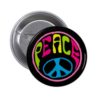 Hippie Peace Sign Pinback Button
