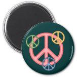Hippie Peace Sign Refrigerator Magnet