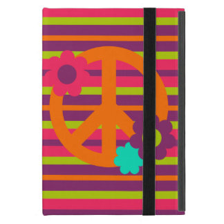 Hippie peace sign stripe pattern iPad Mini case
