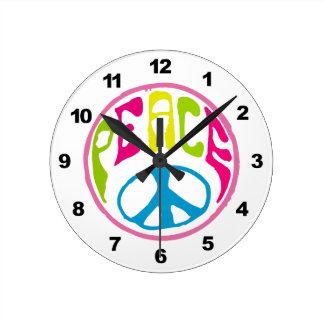 Hippie Peace Sign Wallclocks