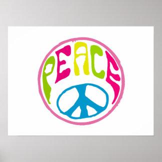 Hippie Peace Symbol Poster