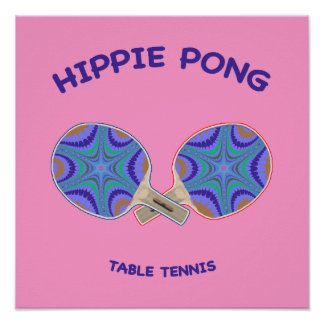 Hippie Pong Ping Pong Print