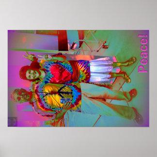 Hippie Prace Print