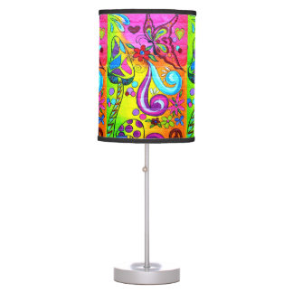 hippie psychedelic groovy table lamp
