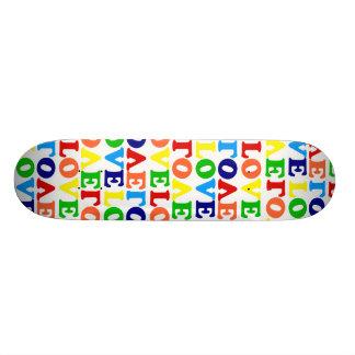 Hippie Rainbow Love Valentines Day Skateboard Decks