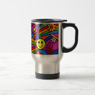 Hippie Rainbow Pattern Travel Mug