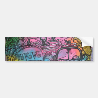 Hippie Road Trip Bumper Sticker