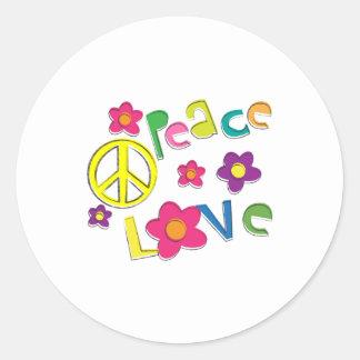 hippie round sticker