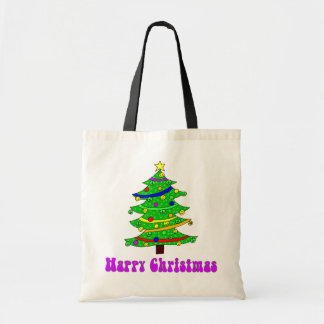Hippie s Happy Christmas Tree Tote Bags