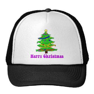 Hippie s Happy Christmas Tree Mesh Hat