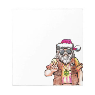 Hippie Santa Notepad