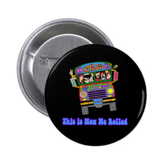 Hippie School Bus 2 Inch Round Button