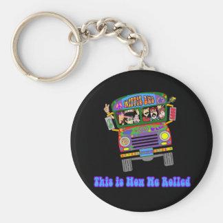 Hippie School Bus Keychain