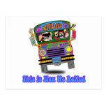 Hippie School Bus Post Card