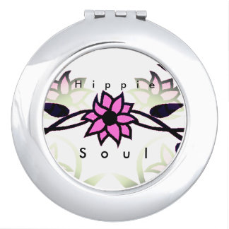 Hippie_Soul(c)-Pink_Black_Flower's Mirror For Makeup